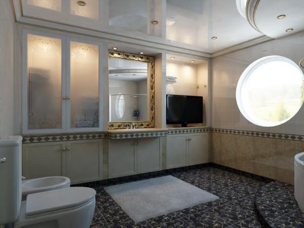 Ванная комната, второй этаж вид от двери