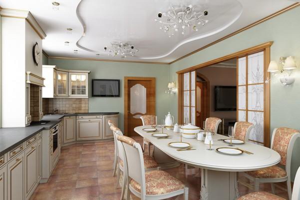 Кухня, первый этаж, вид от окна