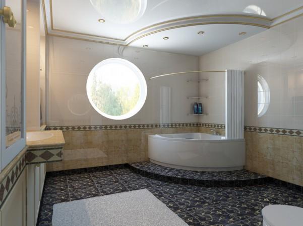Ванная комната, второй этаж вид сбоку
