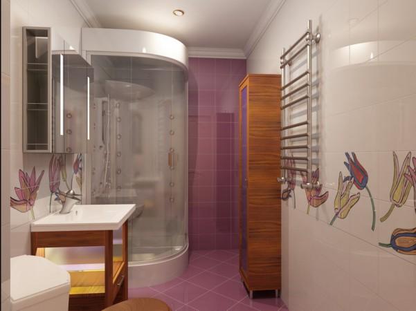 Ванная комната, первый этаж вид от двери