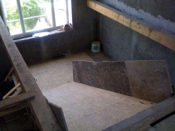 Лестница с первого этажа на второй